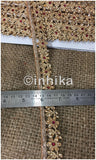 lace trim fabric embroidered lace fabric for wedding dresses india online Gold-Flower-Design-With-Stone-1-Inch-Wide-