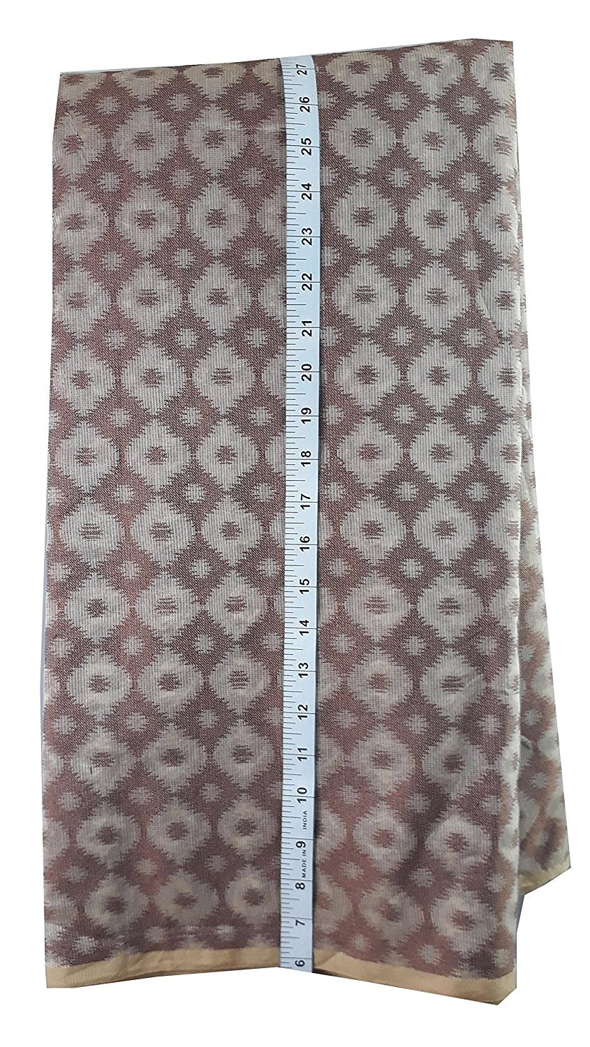 buy material embroidery material suppliers Kota Checks Beige, Brown 44 inches Wide 1742