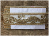 lace trim fabric bridal wedding lace trim by the yard wholesale suppliers Beige-Zari-3-Inch-Wide-3238