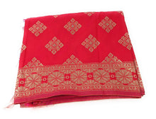 Load image into Gallery viewer, Banarasi Silk Dupatta in Red Pink Gold