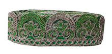 Load image into Gallery viewer, lace trim fabric designer fabric trim for garment wholesale suppliers Green-Embroidery-2-Inch-Wide-3256