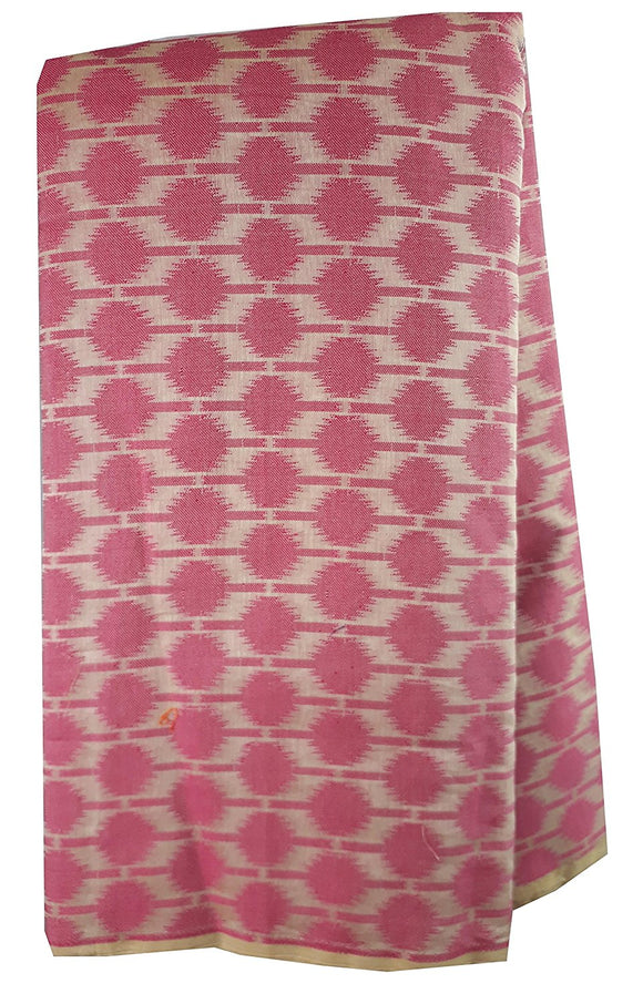 fabric sale online india embroidery designs for dress material Chanderi Cotton Dark Pink, Cream 43 inches Wide 1729