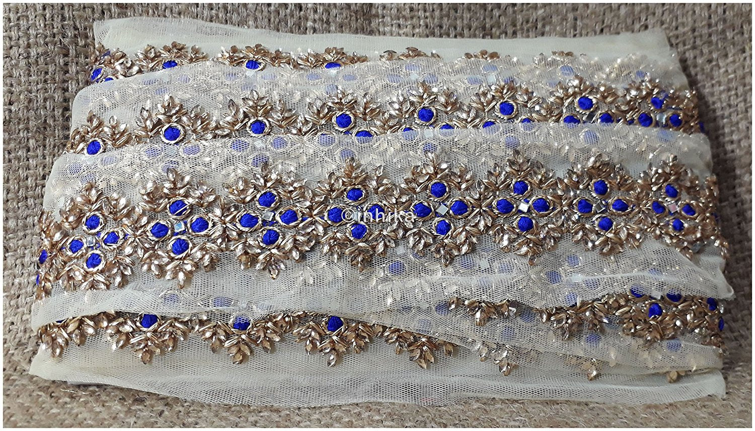 lace trim fabric beaded bridal lace fabric online by the yard Blue, Embroidery, 3 Inch Wide material Net, Mesh, Tulle