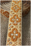 lace trim fabric sewing trims and embellishments for clothing Gold-Brocade-Stone-2-Inch-Wide-3249