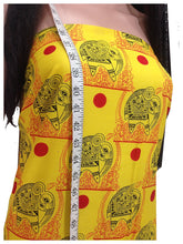 Load image into Gallery viewer, cotton priinted ffabric store near me fine indian print african yellow elephant