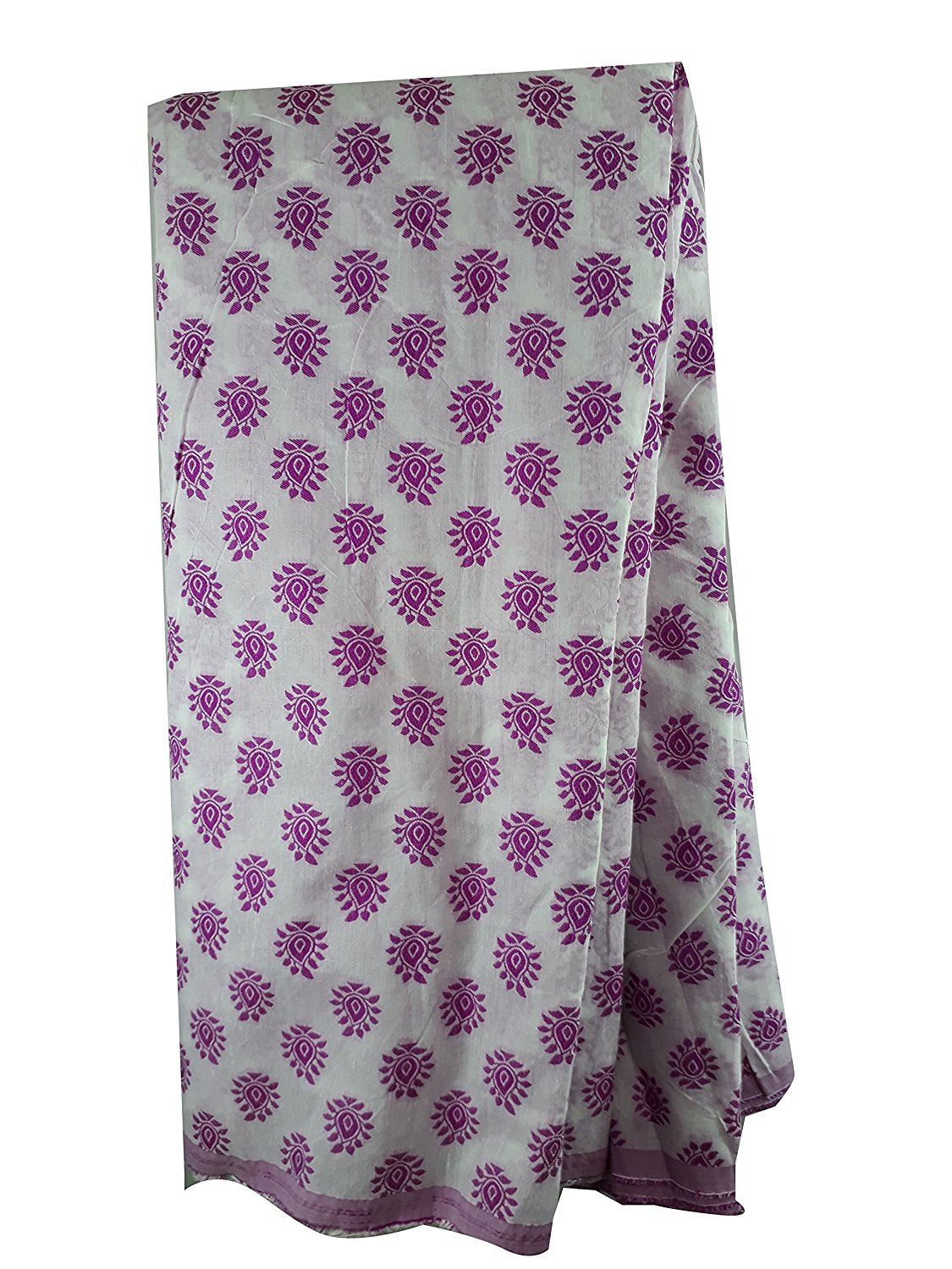 buy fabric online india embroidery beads online Cotton Off White, Pink 48 inches Wide 1781