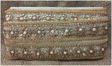 lace trim fabric sewing trims and embellishments for clothing Beige-Zari-2-Inch-Wide-3236