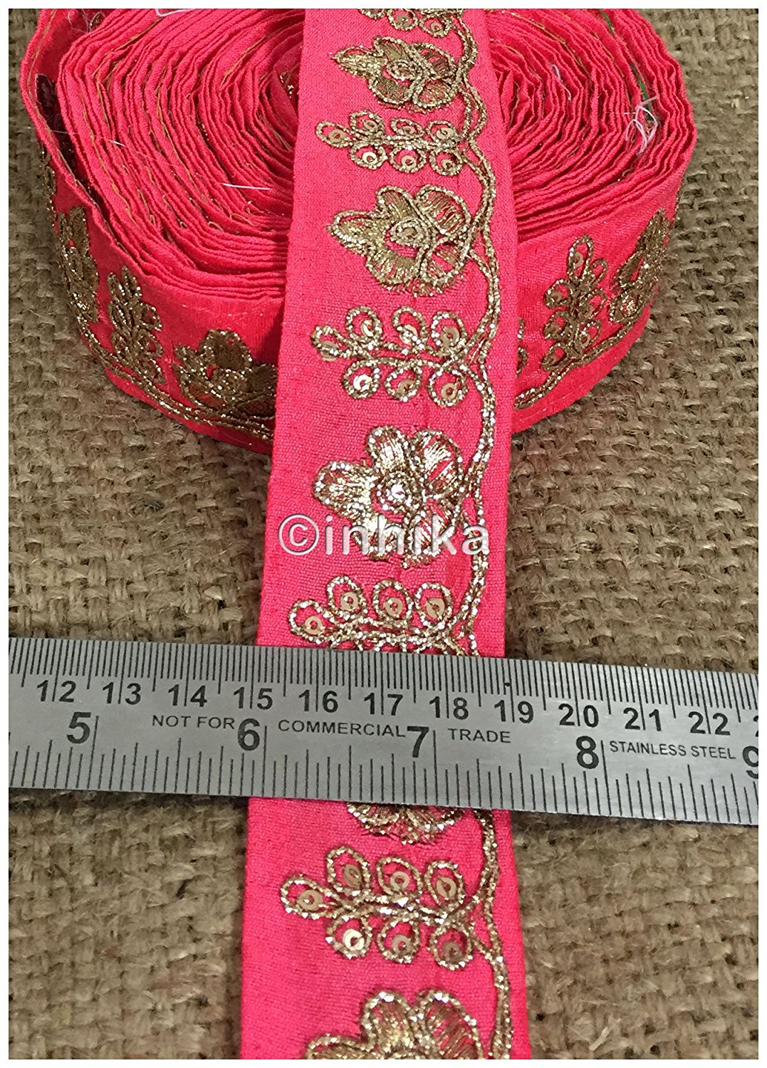 lace trim fabric where to buy fringe for clothing Peach, Embroidery, 2 Inch Wide material Cotton Mix, Dupion