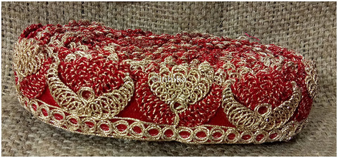 lace trim fabric trims and accessories used in garment industry Red-Embroidery-2-Inch-Wide-3254