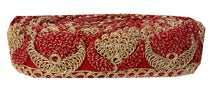 Load image into Gallery viewer, lace trim fabric beaded bridal braid trim by the yard Red-Embroidery-2-Inch-Wide-3254