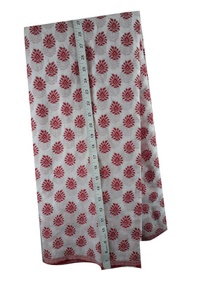 online fabric store india online fabric shopping india Embroidered, Jaquard Cotton Off White, Red 47 inches Wide 1783