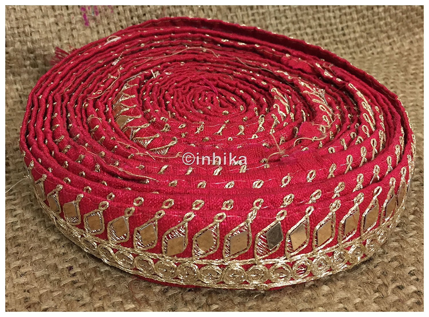 lace trim fabric where to buy fringe for clothing Pink, Embroidery, Mirror, 2 Inch Wide material Cotton Mix