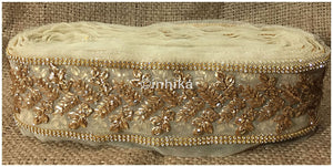 lace trim fabric bridal rhinestone lace appliques wholesale Beige-Zari-4-Inch-Wide-3241