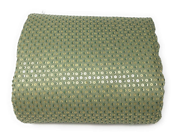 green sequin fabric
