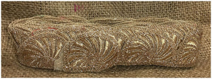 lace trim fabric trims and accessories used in garment industry Beige-Zari-2-Inch-Wide-3240