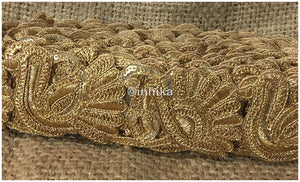 lace trim fabric trims in fashion Gold-Embroidery-Sequins-2-Inch-Wide-3247