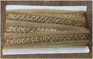 lace trim fabric where to buy fringe for clothing Beige-Zari-2-Inch-Wide-3237