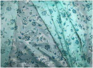 crisp chanderi printed fabric