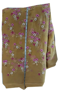 embroidery designs blouse material online Embroidered Georgette Beige, Pink, White 44 inches Wide 1628