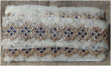 lace trim fabric bridal rhinestone lace appliques wholesale Black, Embroidery, 3 Inch Wide material Net, Mesh, Tulle