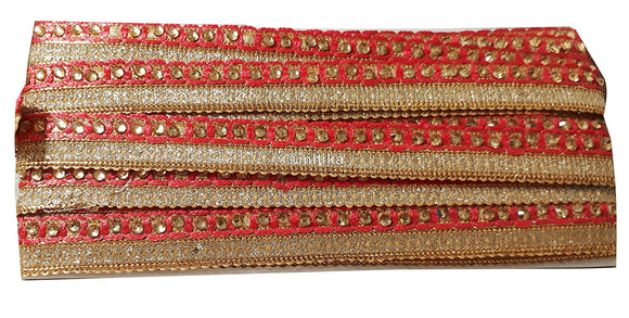 Carrot Red saree border