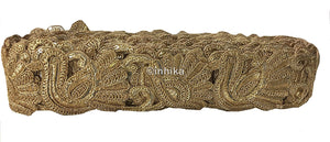 lace trim fabric trims and accessories used in garment industry Gold-Embroidery-Sequins-2-Inch-Wide-3247