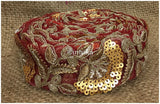 lace trim fabric where to buy lace appliques Maroon, Embroidery, Sequins, 2 Inch Wide material Net, Mesh, Tulle