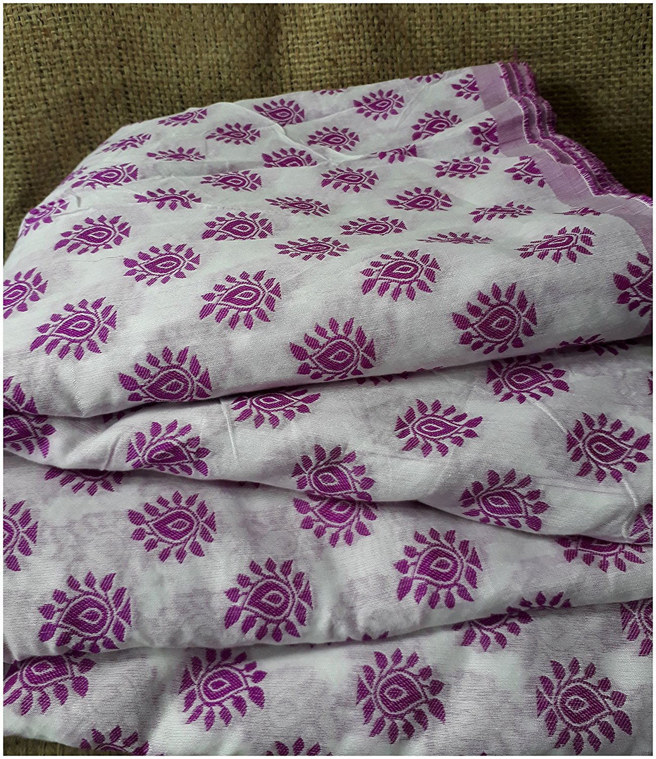 embroidery cloth materials embroidery beads online Cotton Off White, Pink 48 inches Wide 1781