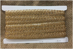 Thin Gold Lace Edging with Beads