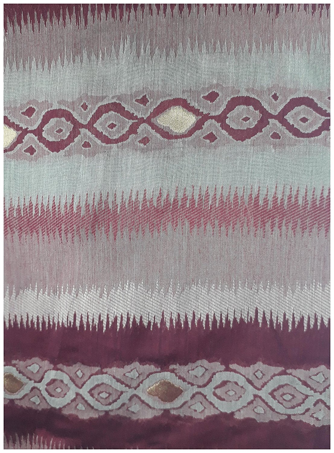 embroidery dress material materials for embroidery Cotton Maroon, Beige, Gold 51 inches Wide 1738