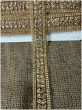 lace trim fabric embroidered lace fabric for wedding dresses india online Gold, Embroidery, Stone, 2 Inch Wide material Net, Mesh, Tulle