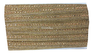 lace trim fabric garment trims and accessories wholesale suppliers Gold, Embroidery, Stone, Pearl, 1 Inch Wide material Cotton Mix