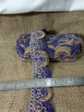 lace trim fabric sewing trims and embellishments for clothing Royal-Blue-Embroidery-2-Inch-Wide-3259