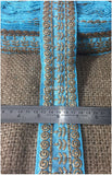 lace trim fabric lace applique trim wedding dress dance costumes and dresses Sky-Blue-Embroidery-3-Inch-Wide-3293