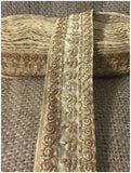 lace trim fabric decorative fabric trim ribbon for clothing Beige-Embroidery-3-Inch-Wide-3288