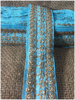 lace trim fabric sequin appliques and trims suppliers Sky-Blue-Embroidery-3-Inch-Wide-3293