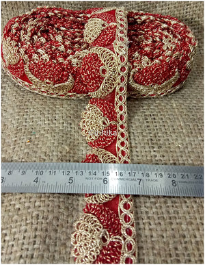 lace trim fabric garment trims and accessories wholesale suppliers Red-Embroidery-2-Inch-Wide-3254