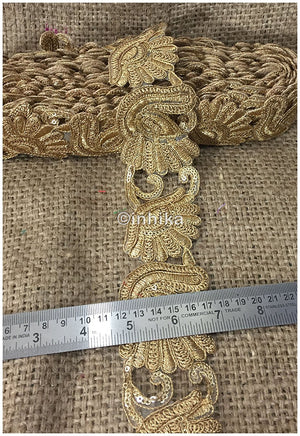 lace trim fabric where to buy fringe for clothing Gold-Embroidery-Sequins-2-Inch-Wide-3247