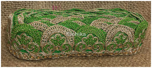lace trim fabric bridal wedding lace trim by the yard wholesale suppliers Green-Embroidery-2-Inch-Wide-3258