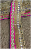 lace trim fabric embroidered lace fabric for wedding dresses india online Blue-Pink-Embroidery-Gota-Patti-3-Inch-Wide-3307