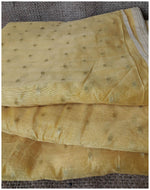 cloth material online embroidery blouse material Chanderi Cotton Yellow, Gold 42 inches Wide 1669