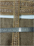 lace trim fabric saree border cheap lace fabric india  Gold, Embroidery, Stone, 2 Inch Wide material Net, Mesh, Tulle