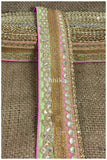 lace trim fabric bridal rhinestone lace appliques wholesale Pista-Green-Light-Pink-Embroidery-Gota-Patti-3-Inch-Wide-3310