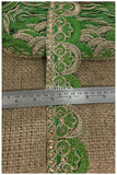 lace trim fabric decorative fabric trim ribbon for clothing Green-Embroidery-2-Inch-Wide-3258