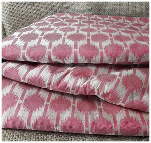 buy embroidery material online india embroidery designs for dress material Chanderi Cotton Dark Pink, Cream 43 inches Wide 1729