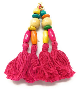 Pink Tassels For Lehenga - Set of 2