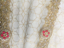 Load image into Gallery viewer, Georgette Sequin Saree In White