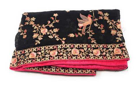 Image of Black Designer Dupatta
