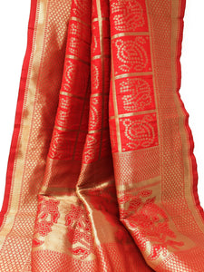 latest designer dupattas with Embroidery in Red