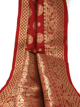 Load image into Gallery viewer, red banarasi brocade stole